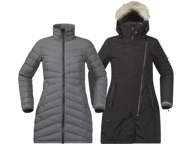 Bergans Sagene 3in1 Coat Dame outer:black/inner:soliddkgrey